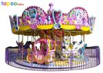 Luxury Rotating Carousel Carnival Ride 16 Seat  Fairground Carousel Horse