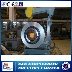 China Hydraulic Aluminum Steel Coil Slitting Line , Rolled Sheet Metal Slitting Machine For Construction on sale