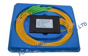 China 1 x 12 ABS Fiber PLC Splitter Module 0.9mm 2.0mm 3.0mm PVC Jacket on sale
