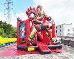 Inflatable Commercial Bouncy Castles Iron Man Jumping House