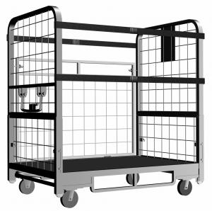 China Safety Folding Rolling Carts With Uplift Device, Swivel Caster For Parcel Collection on sale