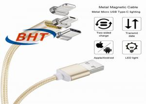 China Fast Speed Magnetic USB Cable , Magnetic Charging Adapter For Micro Usb Cable on sale