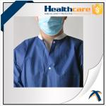 PP Or PE Coated Disposable Patient Surgical Gowns with V Collar and Pockets