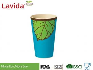 China Blue And Green Color Bamboo Fiber Travel Mug Single Use Environmental Friendly on sale