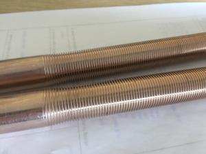 China CuNi 90/10 Shape Type Heat Exchanger Fin Tube 25.4MM 1 Finned Copper Tube(Tuberia aleada de cobre) on sale
