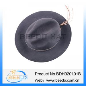 China Cheap felt cowboy hats with leather band  made in mexico on sale