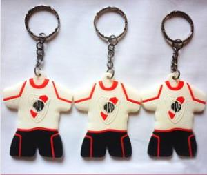 China Football Club T-Shirt Silicone Rubber Keychains and Soft PVC Key Chain on sale