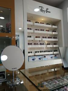 ... Quality Wood Display Cabinet In Wall And Storage Glass Showcase  Counters For Sunglasses Wholesale Shop Interior ...