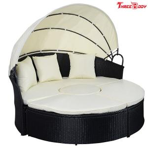 China Round / Curved Outdoor Sofa , Comfortable Contemporary Outdoor Furniture Lounge Sofa on sale
