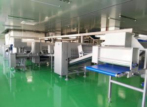 China Máquina do laminador da massa de pastelaria do túnel de congelação de -40℃ a auto para o croissant e o sasuage rolam on sale