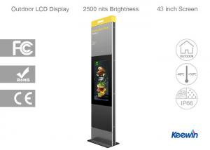 China Floor Standing Outdoor Touch Screen Digital Signage Automatic Brightness Control on sale