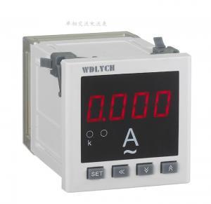 China Wd-9id 96*96mm Ac Digital Panel Ammeter , Waterproof Digital Ammeter Gauge Single Phase on sale