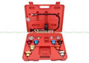China 14pcs Car Garage Repair Tools For Auto Water Tank Detector Radiator Cooling System Pressure Leak Tester on sale