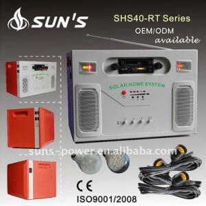China 40W Solar Power Generator / Solar Home Generator / Solar Generator With Hi-fi Loud Speaker and Radio+USB+SD Card on sale