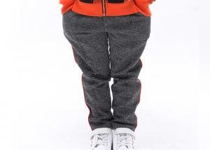 China Eco Running Kids Grey Sweatpants Side Piping With 60 Cotton 40 Polyester on sale