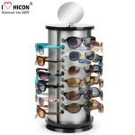 Exhibición Roces de la lente del metal de la forma redonda de la vitrina de las gafas de sol de la encimera