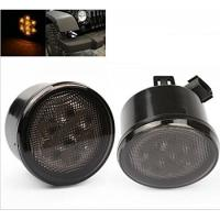 China Yellow Front Jeep Wrangler Turn Signal Lens , Smoke Len Jeep Wrangler Tail Lights on sale