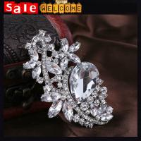 Wedding Silver Big Crystal Brooch броши женские ,Korean Bouquets brooches Pin for women