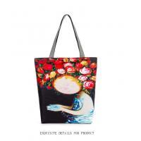 Lips print handbag canvas singles shoulder bag flower print canvas shopping bag