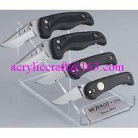 PMMA knife holder, plexiglass knife & fork display stand / acrylic knife display rack