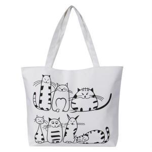 China Printed Cartoon Custom Shoulder Bags for women , Zippered Tote Bag on sale