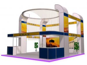 China Safe Aluminum Truss Trade Show Display 5m*6m , Island Booth Displays on sale