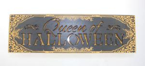 China Halloween word sign plaque wall decoration holiday wooden decoration on sale