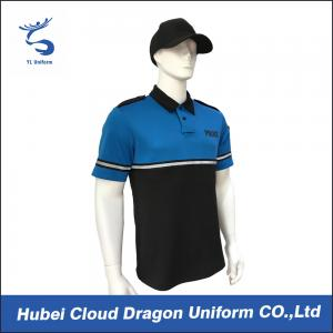 China Fabric Police Patrol Duty Uniform , Custom Security Polo Shirts For Men / Women on sale