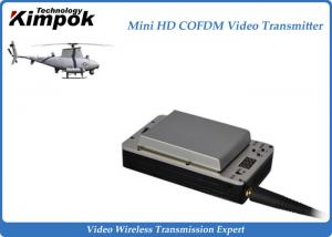 China Lightweight HD UAV Video Transmitter 20km Wireless COFDM UAV Link with Battery on sale