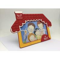 China Customized house shape rubber photo frame home house customized pvc picture frame on sale