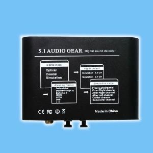 China 5.1 AUDIO Decoder  / AC3 / DTS Audio Gear Digital Surround Sound Rush Decoder Theater on sale