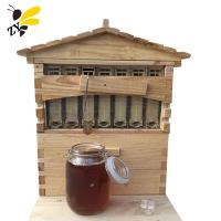 7 Frames Automatic Honey Self Flow Beehive Wooden Langstroth Bee Hive