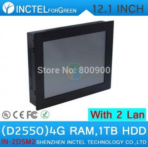 China 12'' Embedded Computer All In One PC Touch Screen with 5 wire Gtouch dual nics Intel D2550 2mm ultra thin panel on sale