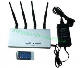 Quality 505A High Power big Mobile cell Phone GSM+3G Signal Jammer with Remote Control for sale