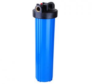 China PVC Big Blue Water Filter Housing 20  Length 50 C Max Operating Temperature on sale