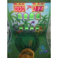 2018 New hot kids ball shooting video games with lottery ticket redemption for kids game rooms