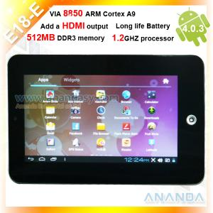 China 7 Inch Cheapest pc tablet Android 4.0 1.2GHz on sale