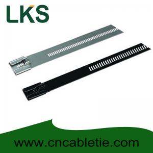 China Ladder Type Stainless Steel Cable Tie on sale