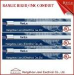 Steel 3 inch 4 inch Rigid Metal IMC Electrical Conduit With RGB Coupling & Plastic Cap
