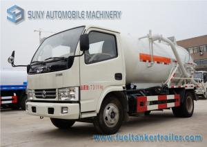 China Dongfeng 4000L 100hp Vacuum Tank Truck 4x2 Suction Type Sewer Scavenger on sale