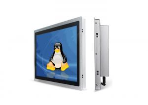 China Widescreen Fanless Embedded Touch Panel PC  / Industrial Linux PC Thin Design on sale