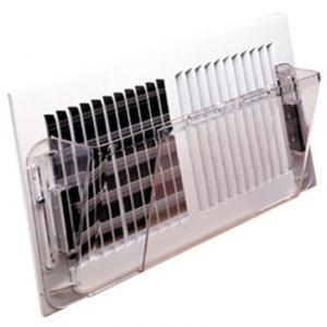 China Deflector Plastic Air Vents 14 X 16 Inch Adjustable Wall Deflector With Magnet on sale