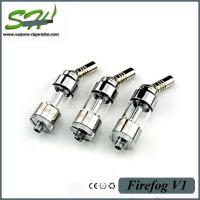 Firefog V1 E Cigarette Atomizers Pyrex Glass With 360 Rotating Drip Tips