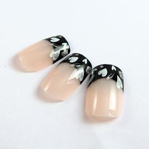 China Plastic elegant French Manicure Fake Nails for women / barbie fake nails on sale
