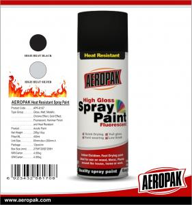 China Aeropak Heat Resistant Aerosol Spray Auto Paint For Glass Metal Machine on sale