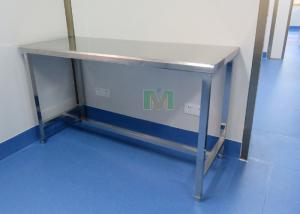 China Panel Setting Stainless Steel Work Bench , Adjustable Foot Margin Laboratory Bench Work on sale