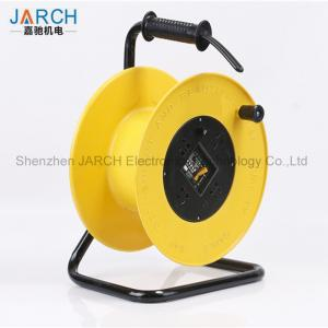 China 150 Mm Length Retractable Hose Reel , 220V Extension Cable Reel Chemicals Resistant on sale
