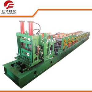 China Construction CZ Purlin Roll Forming Machine With Adjustable Cutting System on sale