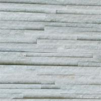 Snow White Marble Pencil Thin Stone Veneer For Wall Cladding Wear Resistant