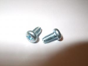 China blue white zinc pan head screw China on sale